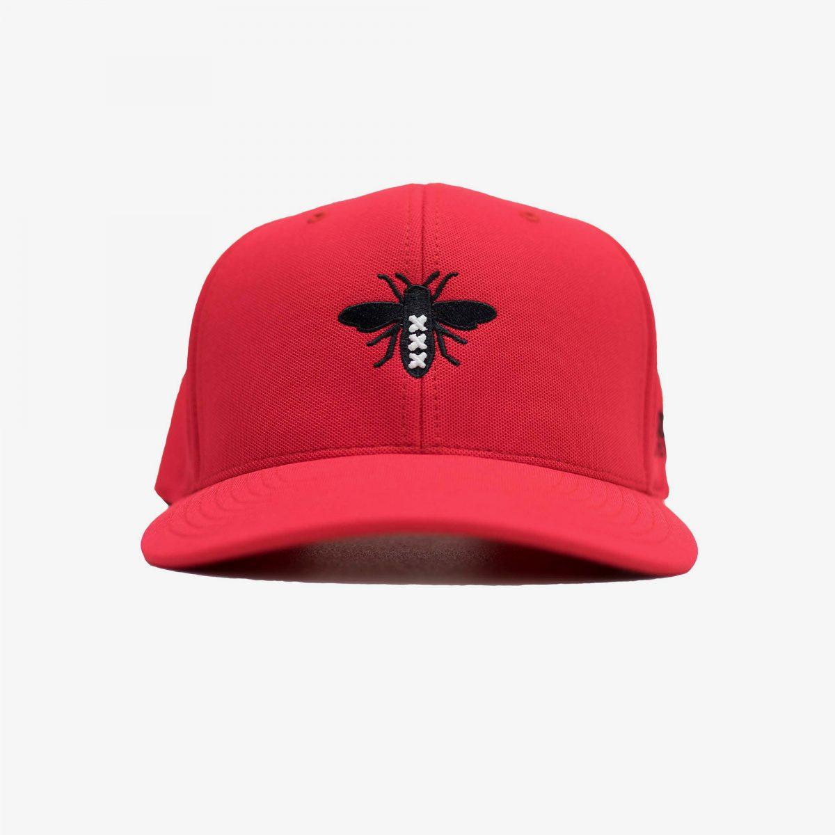 AFCA-Red-Limited-Flexfit-Front-Grey-Background