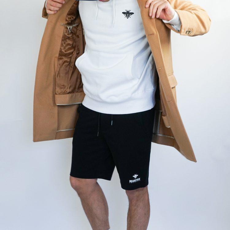deadstock black short white hoodie