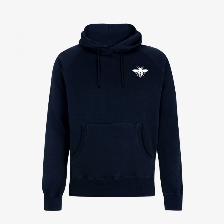 Classic-Navy-Blue-Hoodie-Front-Grey-Background