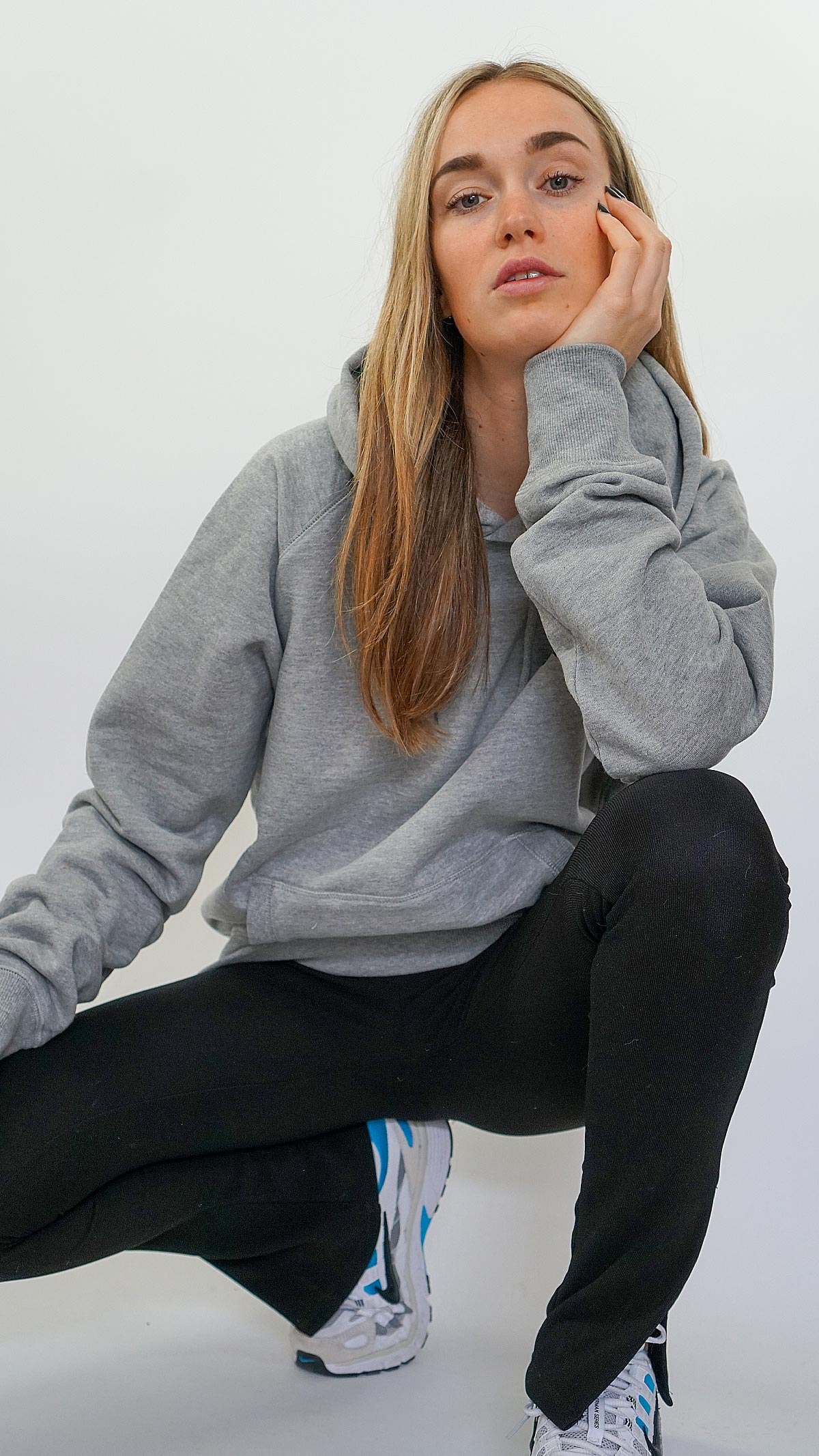 grey hoodie deadstock amsterdam 2021 close
